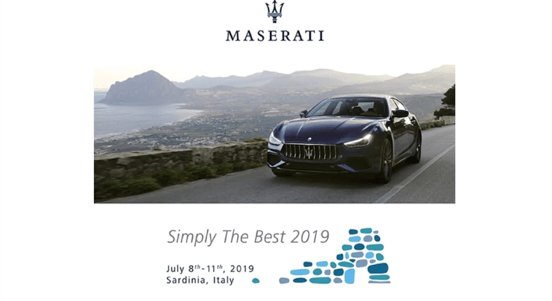 DEA at Simply The Best 2019, the Event for the best Maserati dealers